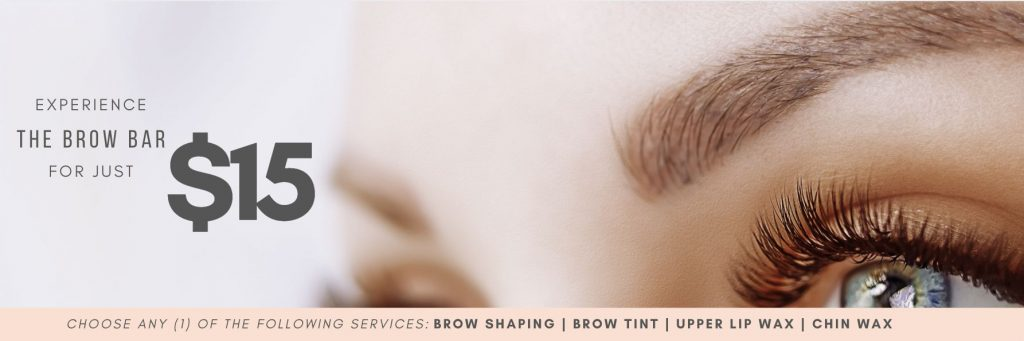 EXPERIENCE THE BROW BAR FOR JUST $15